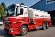 Lang Energie AG. Mercedes Antos 2545, Willig Tankaufbau, Tankfahrzeug